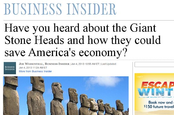 Giant Stone Heads Save Economy