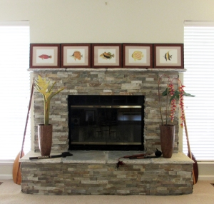 Re-faced Fireplace