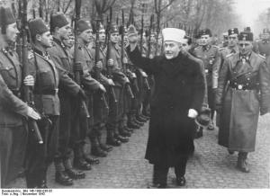 The Grand Mufti of Jerusalem with the Bosnia Volunteers of the Waffen SS.