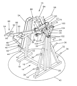 Motion translation arrangement for limiting the rate of lever arm convergence in an exercise machine United States Patent 6682466 Inventors: Ellis, Patrick D. (Milwaukee, WI)