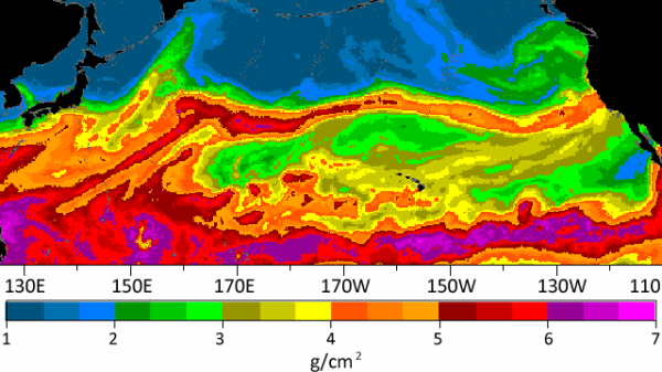 A NOAA weather graphic shows an atmospheric river streaming across the Pacific to the central California coast.