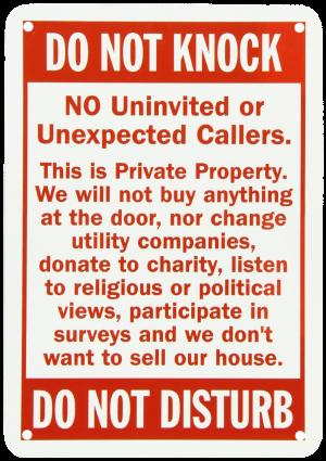 Do Not Knock